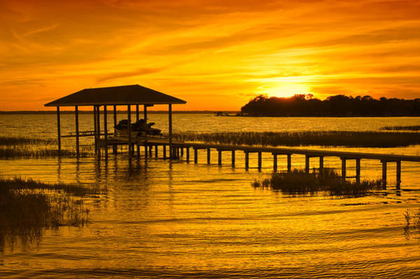 Wall Art - Photograph - Boathouse Sunset by Rich Leighton