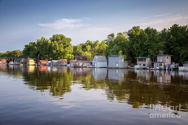 Photograph - Boathouses At Latsch Island Winona by Kari Yearous