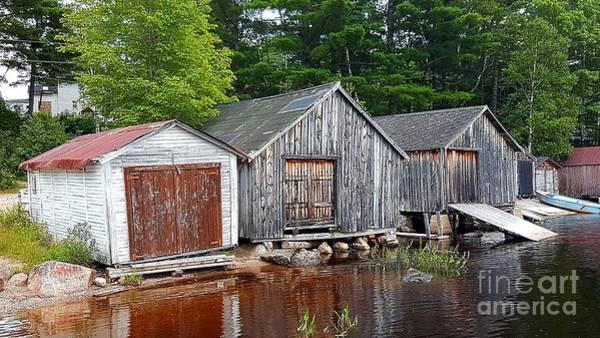 Photograph - Boathouses - Mcadam Nb by Michael Graham