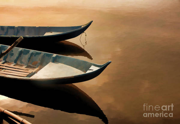 Wall Art - Photograph - Boats 2 Landscape Asian by Chuck Kuhn