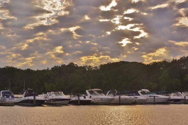 Photograph - Boats And Clouds by Buddy Scott