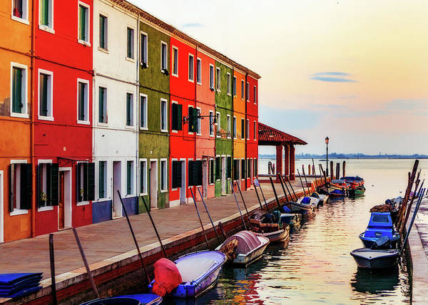 Wall Art - Photograph - Boats And Colorful Homes In Burano Italy by Susan Schmitz