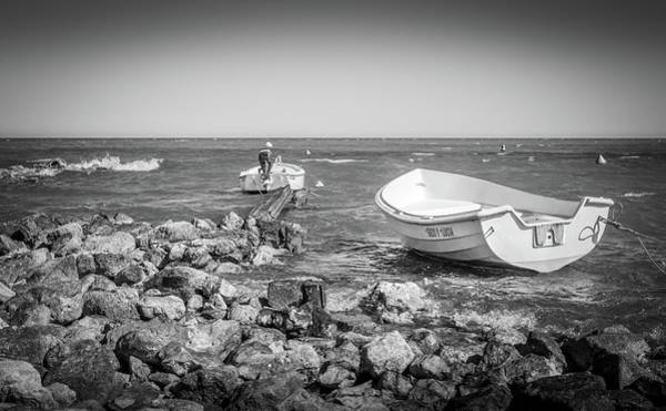 Photograph - Boats And Rocks by Gary Gillette