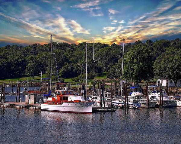 Photograph - Boats And Sunrise by Anthony Dezenzio