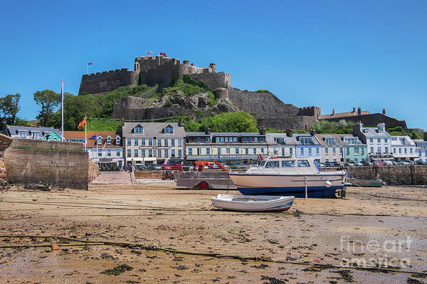 Photograph - Boats And Yachts Moored At St. Aubins Harbour, Jersey,  Uk by Ariadna De Raadt
