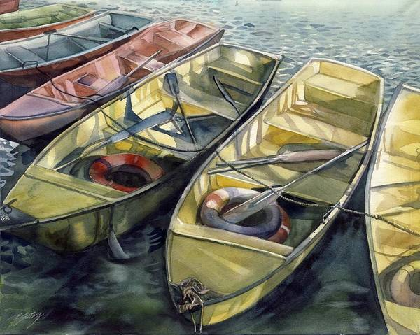 Painting - Boats At Baihai Park by Alfred Ng