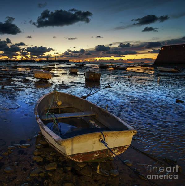Photograph - Boats At Dusk La Caleta Cadiz Spain by Pablo Avanzini