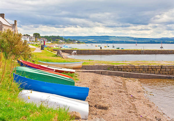 Old Wall Art - Photograph - Boats At Findhorn by Tom Gowanlock