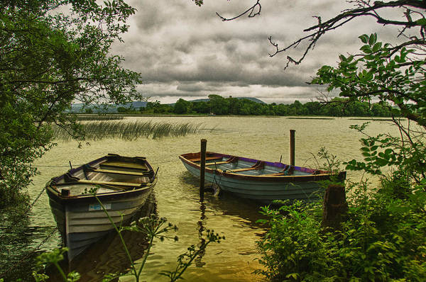 Clare Photograph - Boats At Holy Island County Clare Ireland by Joe Houghton