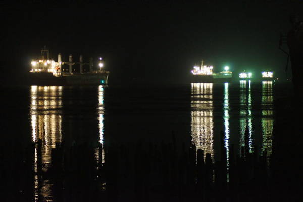 Wall Art - Photograph - Boats At Night by Angi Parks
