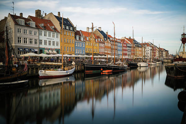Photograph - Boats At Nyhavn In Copenhagen by James Udall