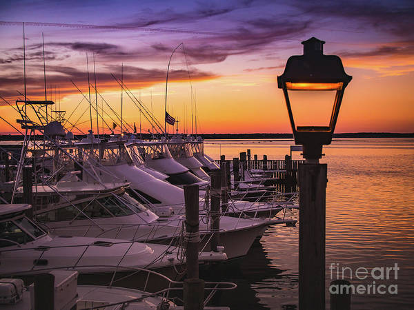Photograph - Boats At Sunset In The Hamptons by Alissa Beth Photography