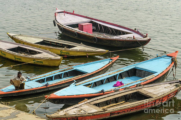 Photograph - Boats At Varanasi by Werner Padarin