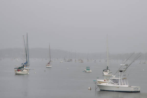 Wall Art - Photograph - Boats Docked In A Foggy Harbor - Salem, Massachusetts by Joann Vitali