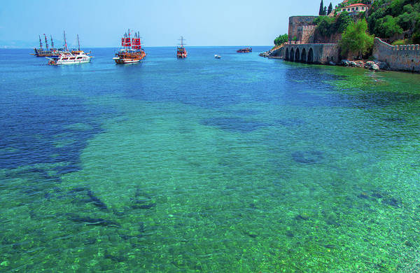 Photograph - Boats In A Bay In Alanya by Sun Travels