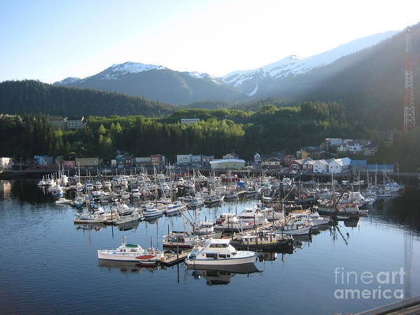 Photograph - Boats In Alaska by Lori Tambakis