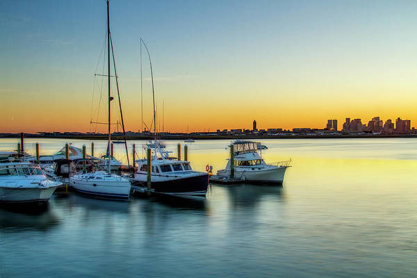 Harbor Scene Digital Art - Boats In Boston by Terry Davis