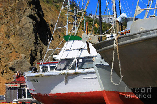 Photograph - Boats In Drydock by James Eddy