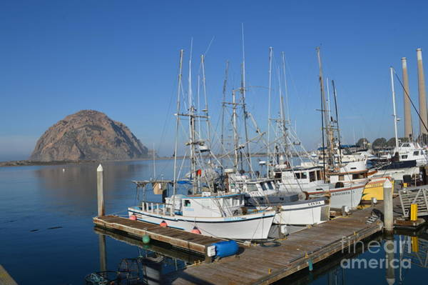 Wall Art - Photograph - Boats In Front Of Morro Rock by Meeli Sonn