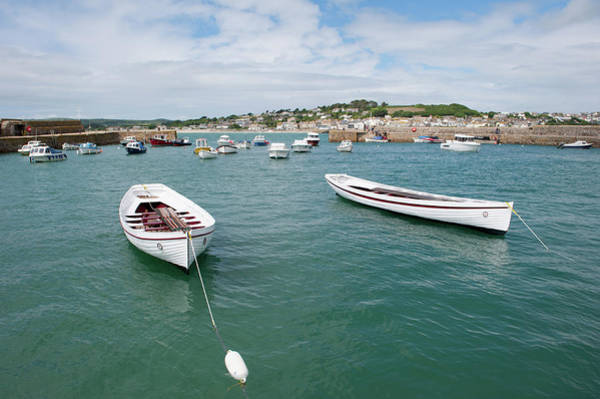 Photograph - Boats In Habour by Helen Northcott