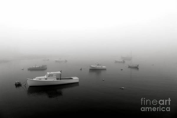 Photograph - Boats In Maine Fog by Olivier Le Queinec