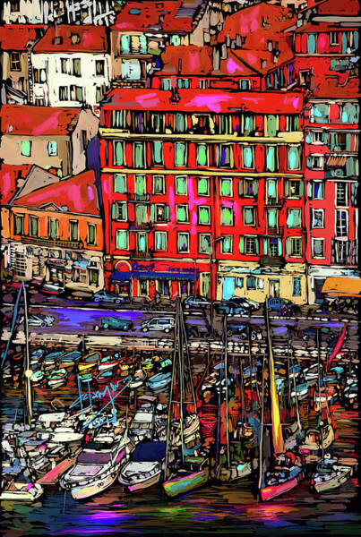 Painting - Boats In Nice, France by DC Langer