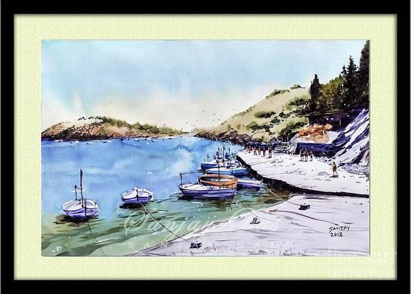 Boats In Spain Art Print