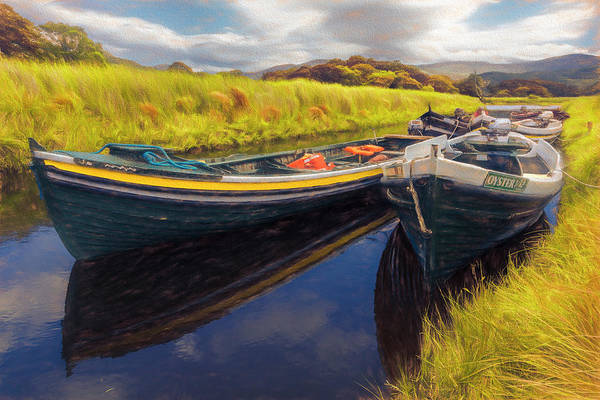 Photograph - Boats In The Autumn Countryside by Debra and Dave Vanderlaan