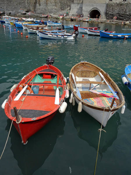 Levante Wall Art - Photograph - Boats In The Cinque Terre by LeeAnn White