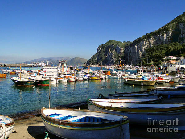 Isle Of Capri Wall Art - Photograph - Boats In The Harbor by Sue Melvin