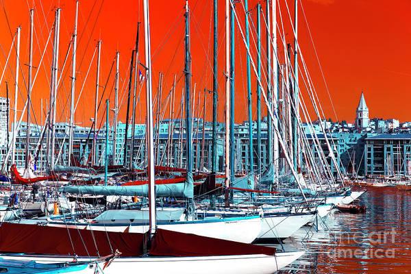 Wall Art - Photograph - Boats In The Port Pop Art 2014 by John Rizzuto