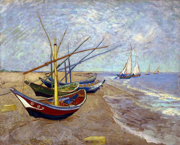 Painting - Boats by Joy of Life Art Gallery - Vincent Van Gogh