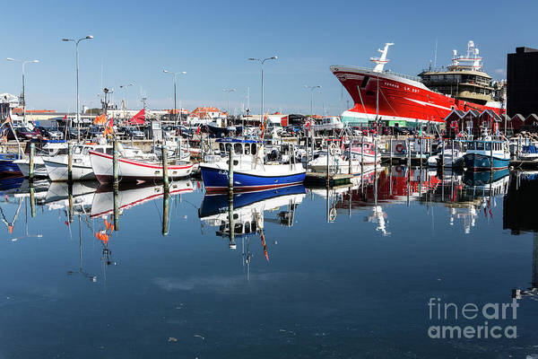Wall Art - Photograph - Boats Moored In Skagen Harbour by Sheila Smart Fine Art Photography