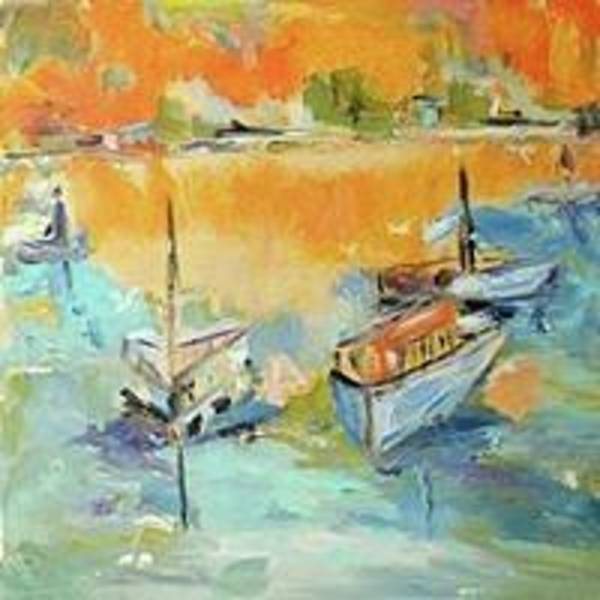 Painting - Boats Of Galveston by Constance Paul