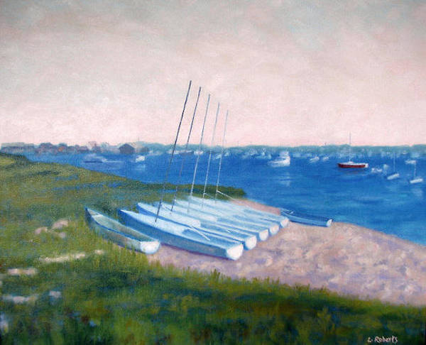 Oak Harbor Painting - Boats Of Summer by Laura Roberts