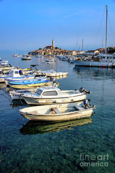 Photograph - Boats Of The Adriatic, Rovinj, Istria, Croatia  by Global Light Photography - Nicole Leffer