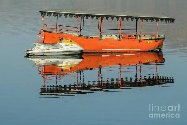 Photograph - Boats On A Lake by Werner Padarin