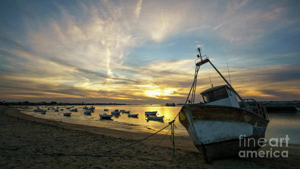 Photograph - Boats On Guadalquivir River At Sanlucar De Barrameda Cadiz Spain by Pablo Avanzini