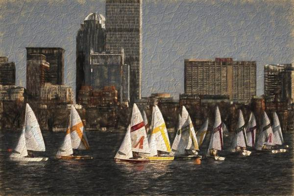 Photograph - Boats On The Charles River Boston Ma by Toby McGuire