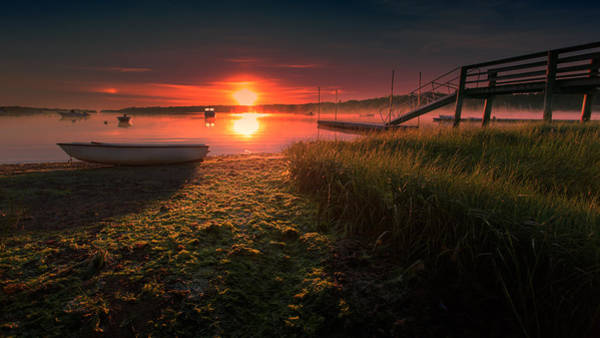Wall Art - Photograph - Boats On The Cove At Sunrise In The Fog by Dapixara Art