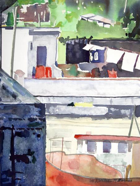 Boats On The Quay Art Print