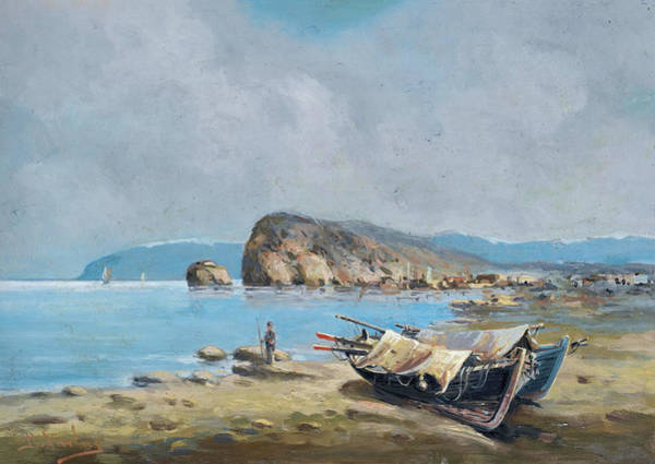 Painting - Boats On The Shore by Vasilios Chatzis