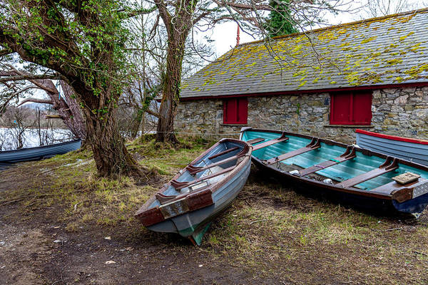 Irish Landscape Photograph - Boats Out Of Water by W Chris Fooshee