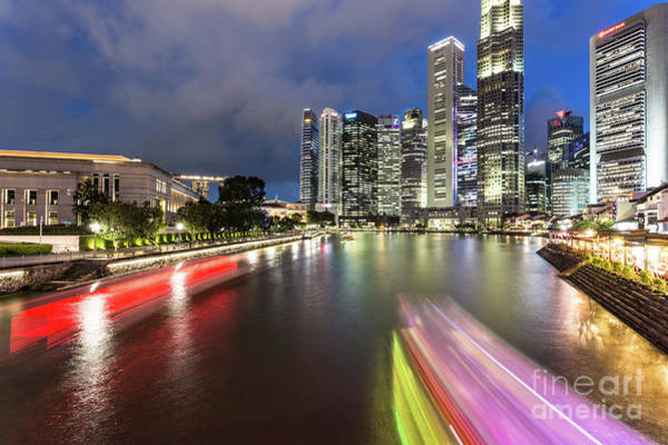 Photograph - Boats Rush In Singapore by Didier Marti