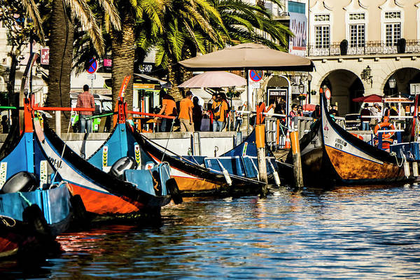 Photograph - Boats Waiting For Passengers On  A Canal In Portugal by Sven Brogren