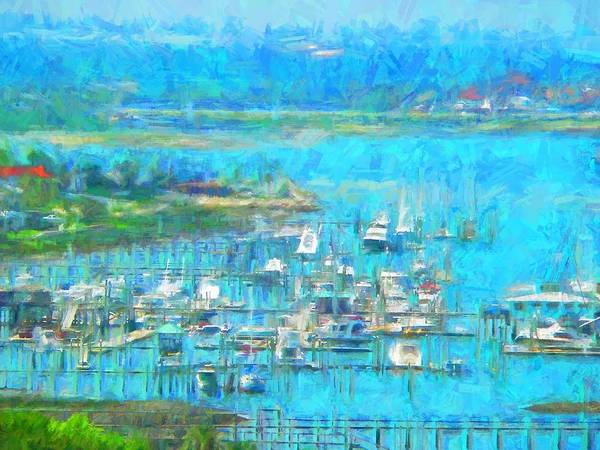 Photograph - Boatscape Abstract by Alice Gipson
