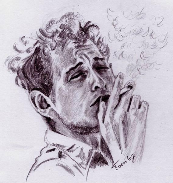 Drawing - Bob Dylan - Blowing In The Wind by Toon De Zwart