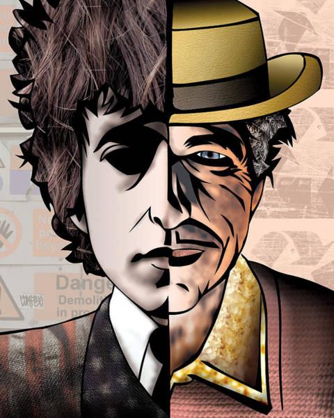 Bob Dylan Digital Art - Bob Dylan - Man Vs. Myth by Sam Kirk