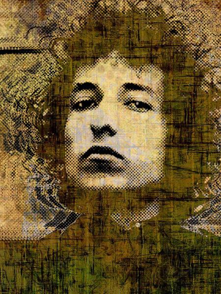 Painting - Bob Dylan 1 Vertical by Tony Rubino