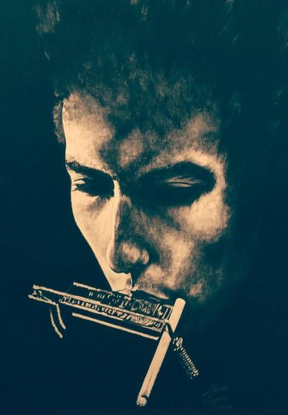 Wall Art - Drawing - Bob Dylan 1965 by Charles Rogers